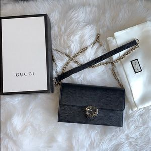 Gucci interlocking wallet on chain crossbody